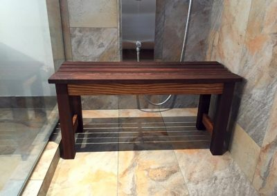 Ash shower bench