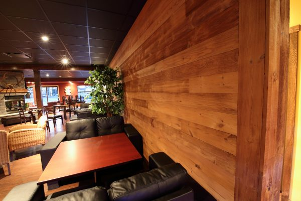 Brushed Pine Wall Panels at Joey's Pub