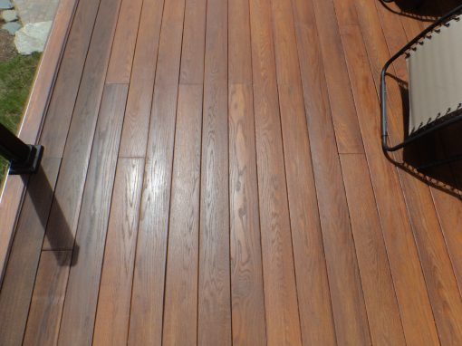 Ash decking with UV coat